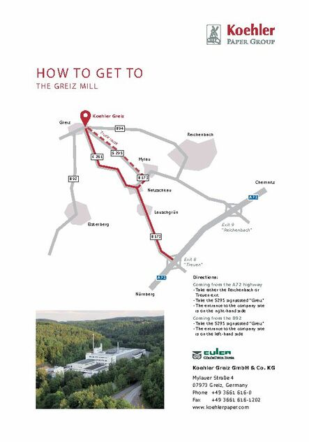 How to get to the Greiz mill