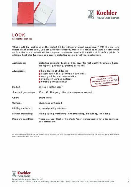 Downloads - Koehler Paper Group
