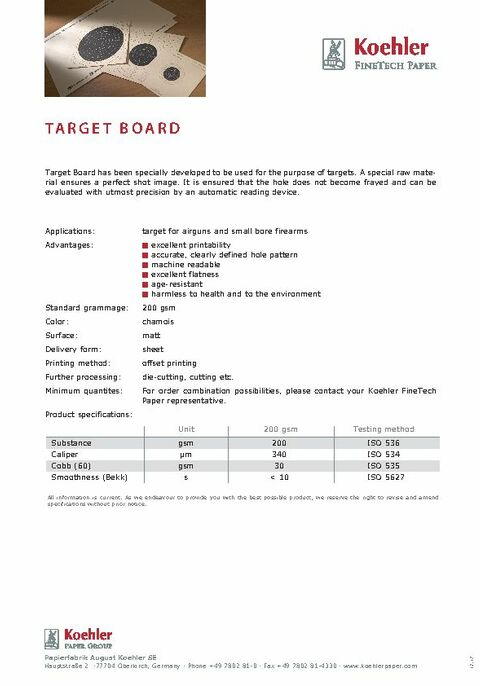 Product Data Sheet TARGET BOARD