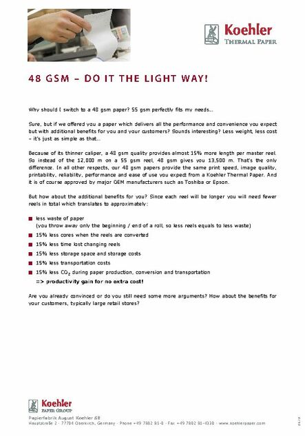 48 GSM – DO IT THE LIGHT WAY !